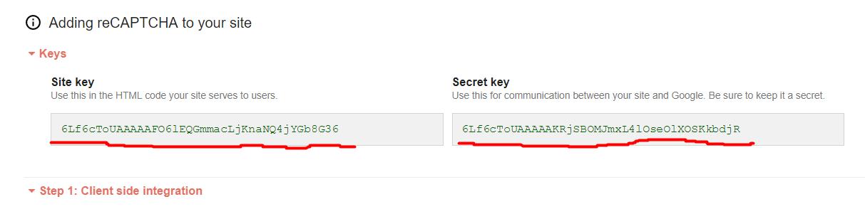 contact form 7 - klucze reCaptcha