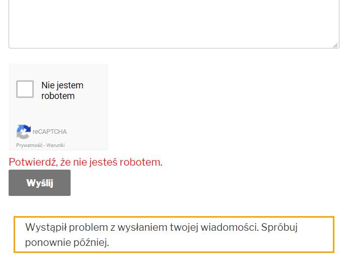 contact form 7 - próba wysłania formularza